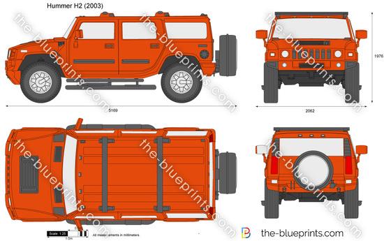 Hummer H2 Vector Drawing