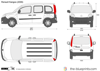 blueprints cars renault renault kangoo 2010. Black Bedroom Furniture Sets. Home Design Ideas