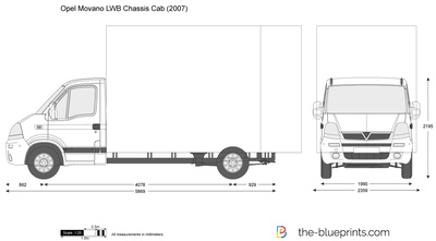 Opel Movano LWB Chassis Cab