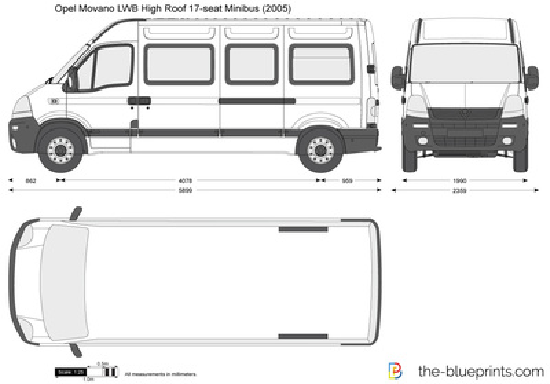 Opel Movano LWB High Roof 17-seat Minibus