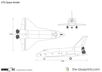 sts space shuttle vector drawing rh the blueprints com Space Shuttle Outline Space Shuttle Outline