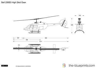 Bell 206B3 High Skid Gear