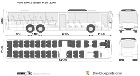 Volvo 8700 LE Tandem 14.5m