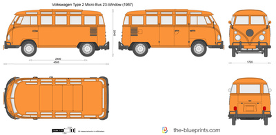 Volkswagen Type 2 Micro Bus 23-Window
