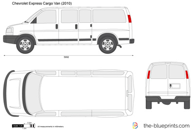 the vector drawing chevrolet express cargo van. Black Bedroom Furniture Sets. Home Design Ideas