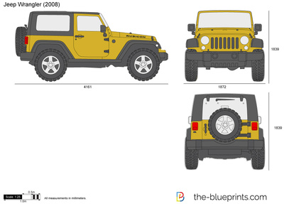 Jeep Wrangler Vector Drawing