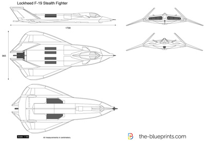 F 117 Stealth Fighter Drawing Lockheed F-19 Stealth ...
