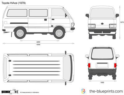 Toyota Hiace Vector Drawing