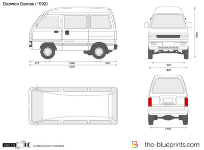 The-Blueprints.com - Vector Drawing - Daewoo Damas