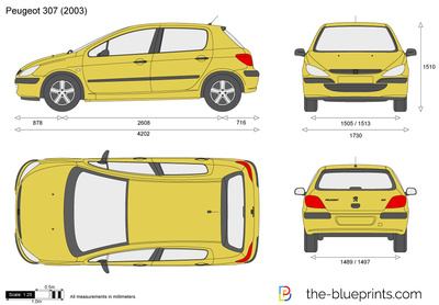 peugeot 307 vector drawing. Black Bedroom Furniture Sets. Home Design Ideas