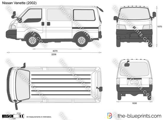 5e12453d72 Nissan Vanette vector drawing