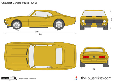 Vector Drawing Chevrolet Camaro Coupe