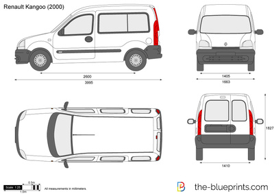 blueprints cars renault renault kangoo. Black Bedroom Furniture Sets. Home Design Ideas