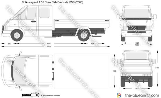 Volkswagen LT 35 Crew Cab Dropside LWB