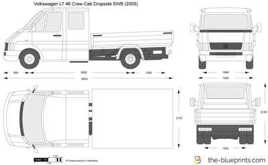 Volkswagen LT 46 Crew Cab Dropside SWB