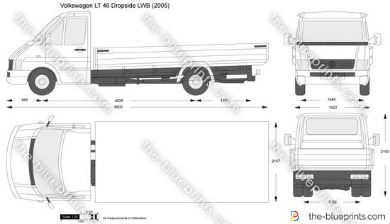 Volkswagen LT 46 Dropside LWB