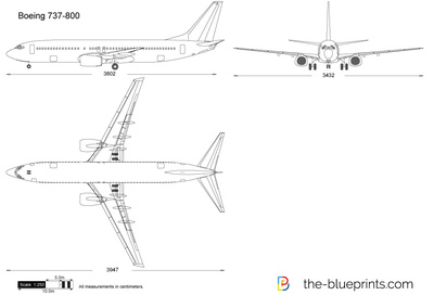 Boeing 737-800 vector drawing