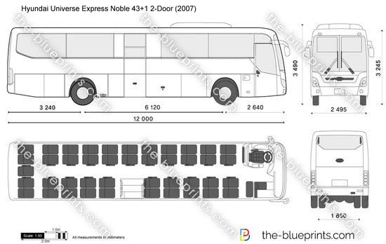 Hyundai Universe Express Noble 43+1 2-Door