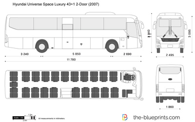 Hyundai Universe Space Luxury 43+1 2-Door