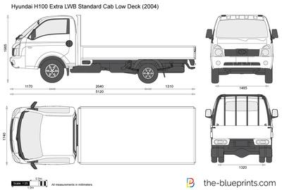 Hyundai H100 Extra LWB Standard Cab Low Deck