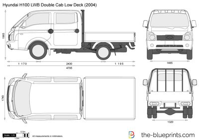 Hyundai H100 LWB Double Cab Low Deck