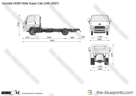 Hyundai HD65 Wide Super Cab LWB
