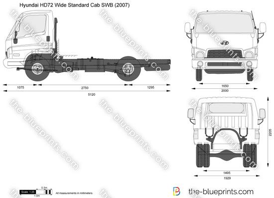 Hyundai HD72 Wide Standard Cab SWB
