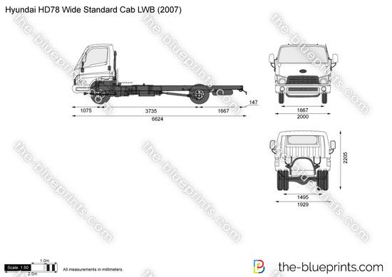 Hyundai HD78 Wide Standard Cab LWB