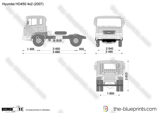 Hyundai HD450 4x2 Tractor