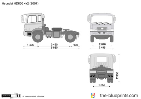 Hyundai HD600 4x2 Tractor