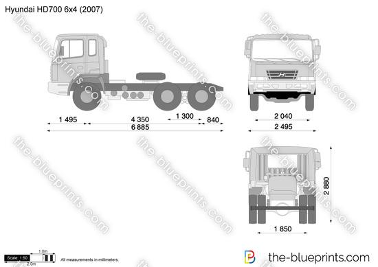 Hyundai HD700 6x4 Tractor