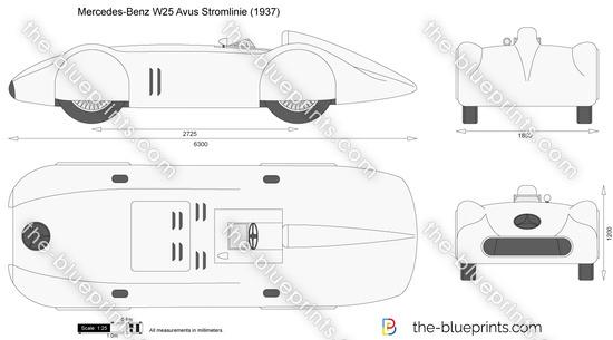 Mercedes-Benz W25 Avus Stromlinie