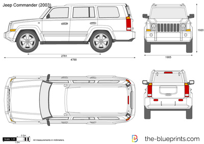 Jeep Commander Vector Drawing