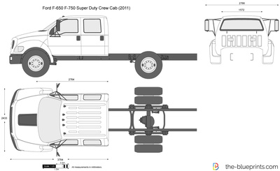 Ford F-650 F-750 Super Duty Crew Cab