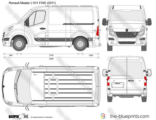 renault master l1h1 fwd vector drawing. Black Bedroom Furniture Sets. Home Design Ideas