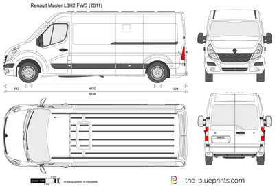 renault master l3h2 fwd vector drawing. Black Bedroom Furniture Sets. Home Design Ideas