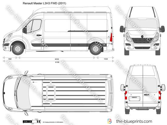 renault master l3h3 fwd vector drawing. Black Bedroom Furniture Sets. Home Design Ideas