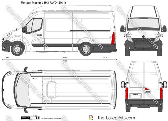 renault master l3h3 rwd vector drawing. Black Bedroom Furniture Sets. Home Design Ideas