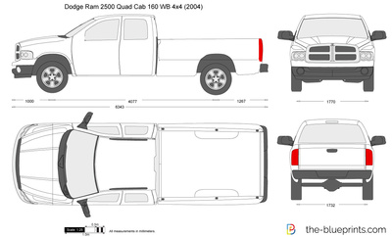 Dodge Ram 2500 Quad Cab 160 WB 4x4
