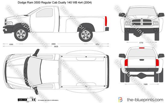 Dodge Ram 3500 Regular Cab Dually 140 WB 4x4