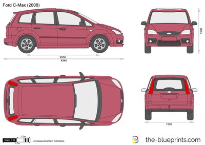 ford c max vector drawing. Black Bedroom Furniture Sets. Home Design Ideas