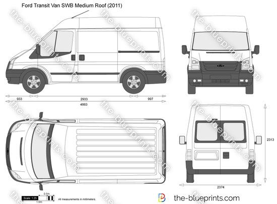 The Blueprints Com Vector Drawing Ford Transit Van Swb