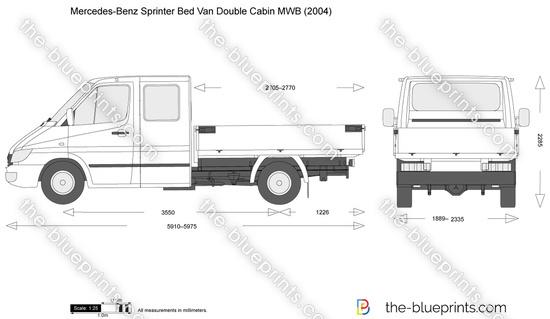 Mercedes-Benz Sprinter Bed Van Double Cabin MWB