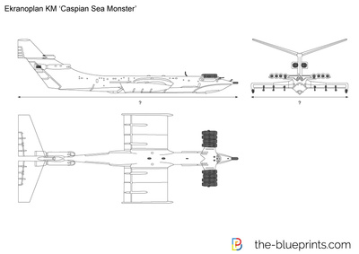 Ekranoplan KM Caspian Sea Monster
