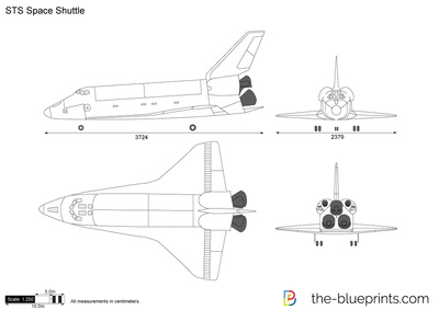 sts space shuttle vector drawing rh the blueprints com Space Shuttle Outline NASA Space Shuttle