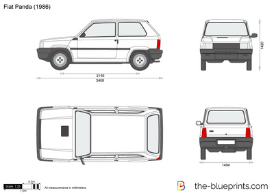 fiat panda vector drawing. Black Bedroom Furniture Sets. Home Design Ideas
