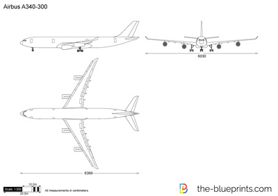 airbus a340 300 vector drawingAirplane Diagram Diagram Of Airbus A340300 #4