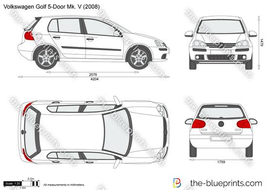 Volkswagen Golf Drawings Drawing Volkswagen Golf