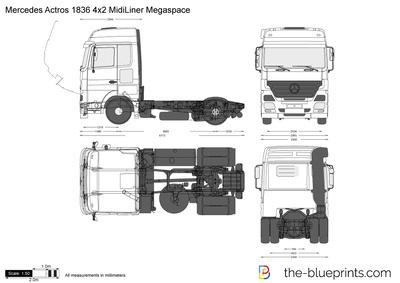Mercedes-Benz Actros 1836 4x2 MidiLiner Megaspace