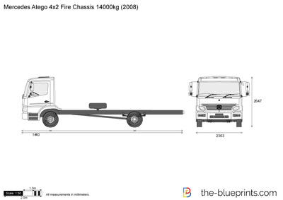 Mercedes-Benz Atego 4x2 Fire Chassis 14000kg